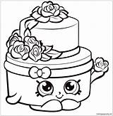 Shopkins Wedding Cake Pages Coloring Print sketch template