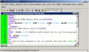 html designer tiny html editor