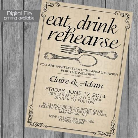 Rehearsal Dinner Invitation Wedding Dinner Dinner Party
