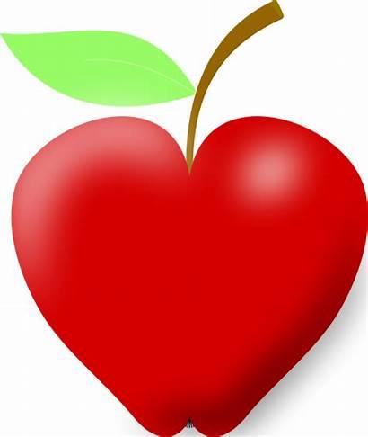 Apple Heart Clipart Shape Apples Clip Fruit