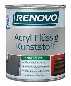 Acryl Für Aussen : renovo 2 5 l acryl fl ssig kunststoff innen au en farbwahl seidenmatt 7 98 l ebay ~ Frokenaadalensverden.com Haus und Dekorationen