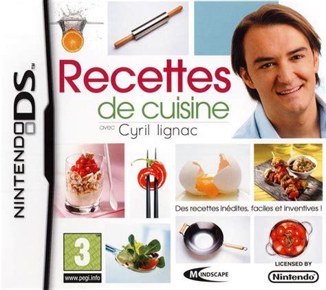 recette de cuisine avec des l馮umes recettes de cuisine avec cyril lignac sur nintendo ds jeuxvideo com