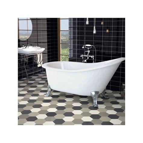 accessoire de cuisine carrelage hexagonal noir sol et mur parquet carrelage