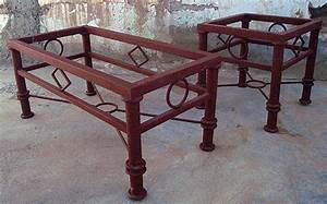 Southwest new mexican iron furniture bar stools tables for Mexican style coffee table