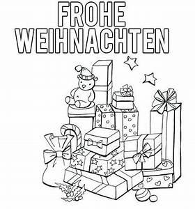 Weihnachtsgeschenke Zum Ausmalen : frohe weihnachten zum ausdrucken ~ Watch28wear.com Haus und Dekorationen