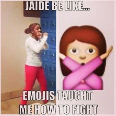 Jaide Meme - girl gets rocked in locker room while her friends watch her eat all the punches