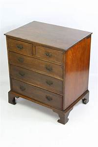 Small, Vintage, Mahogany, Chest, Of, Drawers