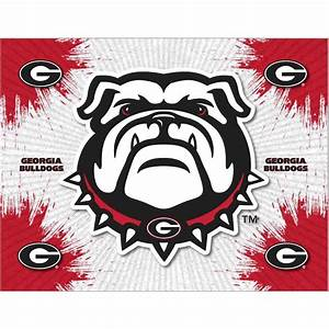 georgia quotbulldogquot logo canvas With kitchen cabinets lowes with georgia bulldogs wall art