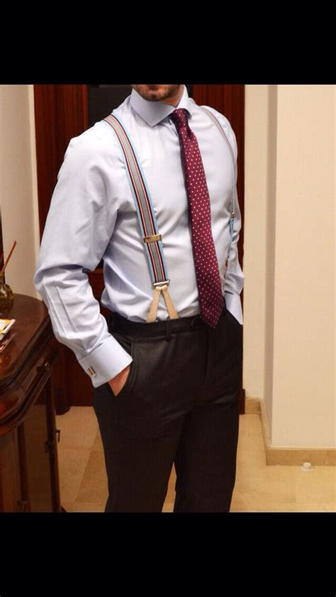 Belt Suspenders Style Menswear Mens T Shirt Accessory