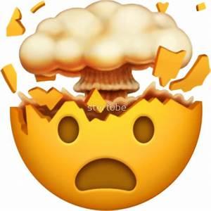 """Mind Blown Emoji"" Stickers by stertube Redbubble"