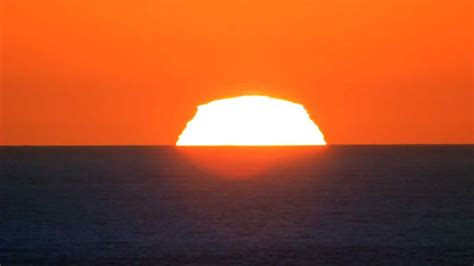 perfect green flash sunset youtube