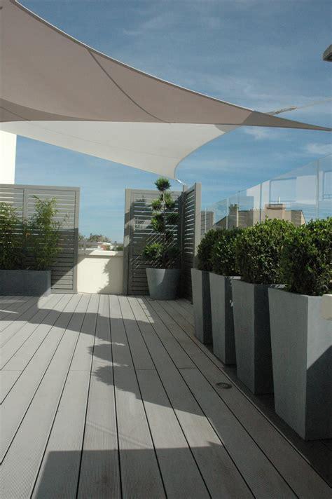 terrasse transform 233 e par exonido brise vue bacs et