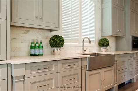 cream marble countertops transitional kitchen bradshaw designs