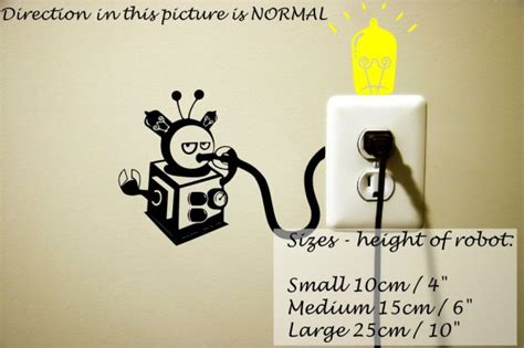 Creative And Wall Socket Stickers by Wall Socket Robot Sticker Wall Stickers Store Uk Shop