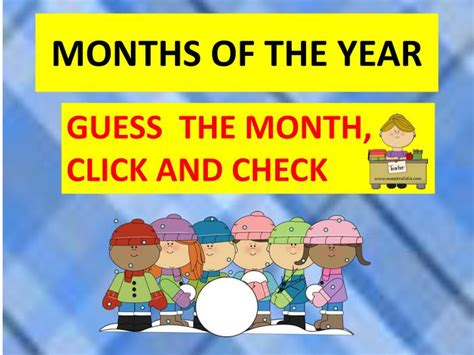 PPT - MONTHS OF THE YEAR PowerPoint Presentation, free ...