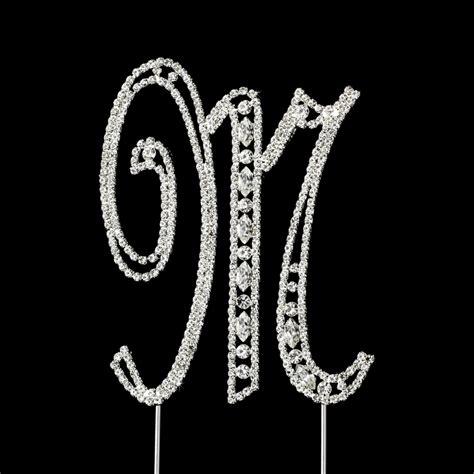 vintage swarovski crystal wedding cake topper letter