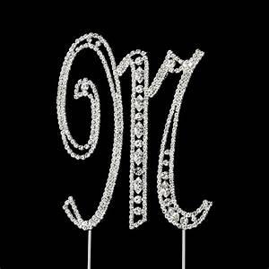 vintage swarovski crystal wedding cake topper letter m With letter m cake topper