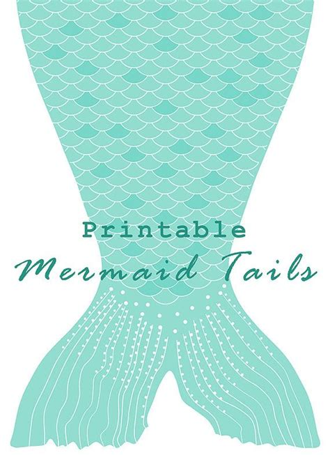 mermaid party tails  letter size diy printable paper