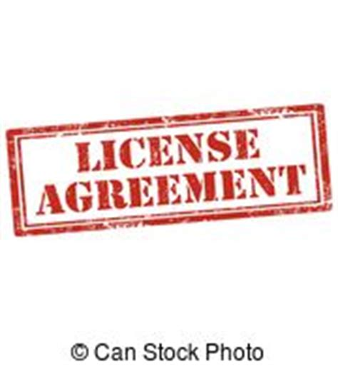 license agreement illustrations  stock art  license