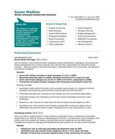 Branding Your Resume Sles by Marketing Resume Template Learnhowtoloseweight Net