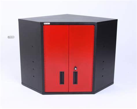 geneva corner wall cabinet blackred