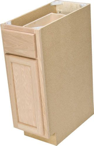 quality one 12 quot x 34 1 2 quot unfinished oak base cabinet with