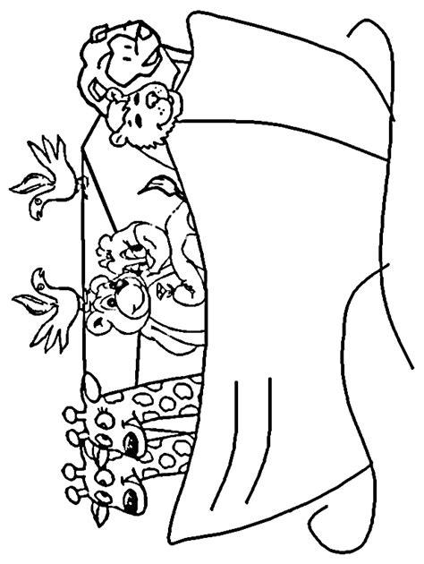 Kleurplaat Regenboog Ark Noach by Knutselen Ark Noach