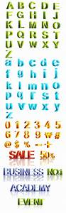 letters and three dimensional digital vector revised With 3 dimensional letters