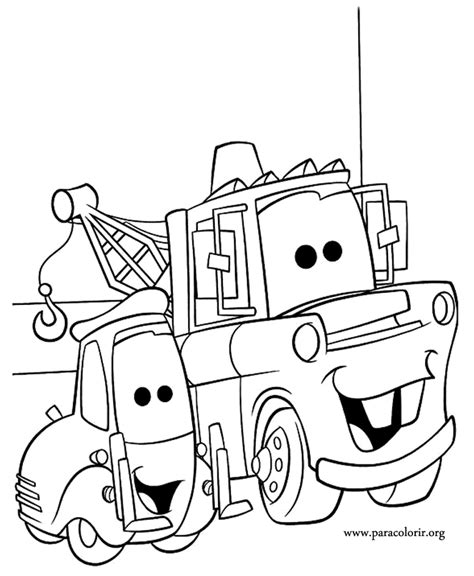 cars  guido  tow mater coloring page