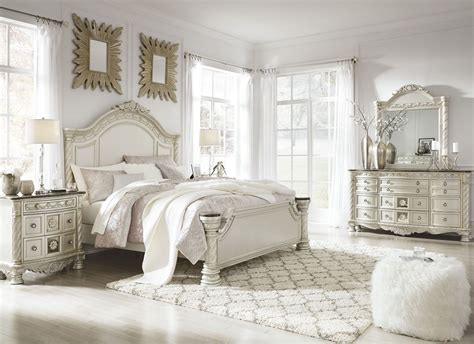 silver bedroom set cassimore shore pearl silver panel bedroom set from