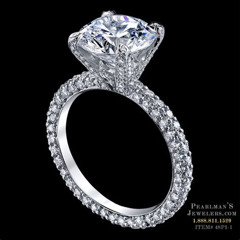 Michael B Jewelry Luxury Pave Engagement Ring