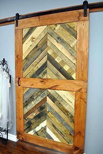 Reclaimed Wood Chevron Sliding Barn Door   Driftwood