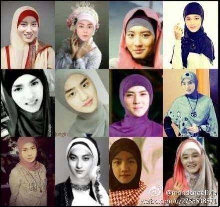 anime exo lucu exo with hijabs by chanyeolcreep on deviantart