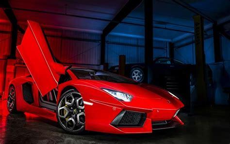 Wallpaper Lamborghini Aventador Lp700-4 Red Supercar Front