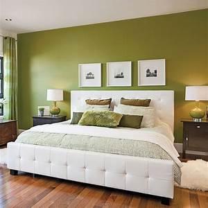 chambre en vert et blanc chambre inspirations With couleur chambre adulte zen