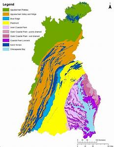 Physiographic Settings In The Chesapeake Bay Watershed