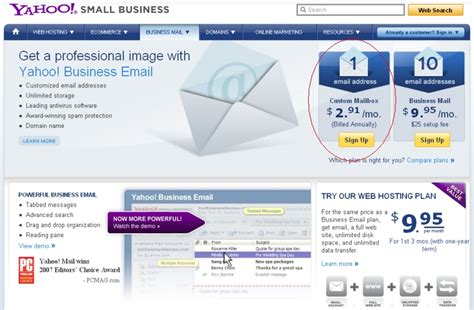 Yahoo! Small Business Email