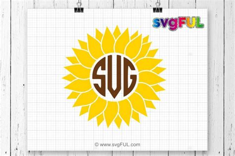 svg sunflower svg sunflower monogram svg svg files flower monogram  svgful thehungryjpegcom