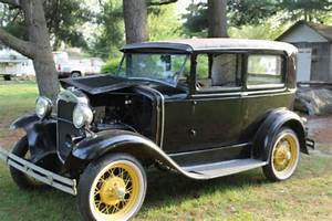 Buy Used 1931 Model A Ford Tudor All Black With Yellow