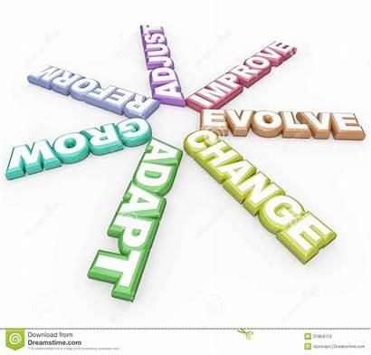 Change Adapt Evolve Background Words Changing 3d
