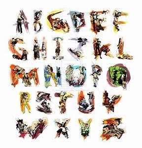 alphabet art part i nerdcrunch With painting alphabet letters