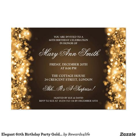 elegant  birthday party gold sparkling lights