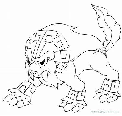 Pokemon Legendary Coloring Pages Fire Type Drawing