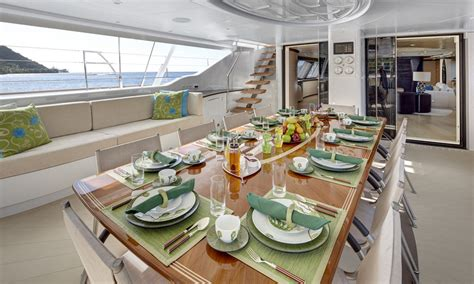 Catamaran Breakfast Menu by Sailing Yacht Mondango 3 Cockpit Breakfast Image By