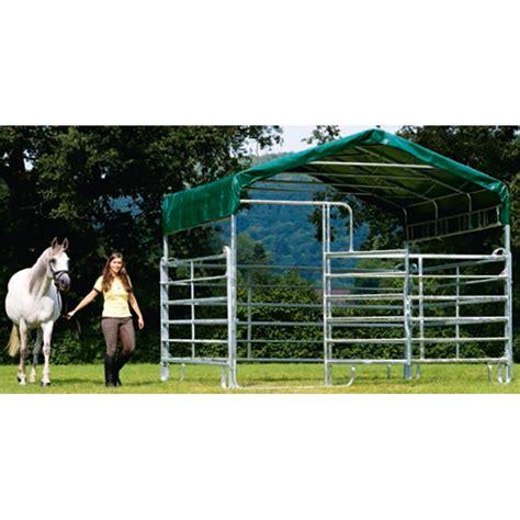 tettoia in ferro zincato stalletta mobile in ferro zincato con tettoia