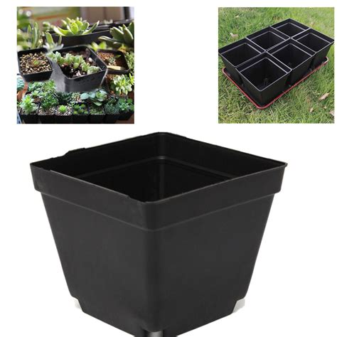 Square Plant Containers 3 5 quot inch square black plastic nursery pots seedlings