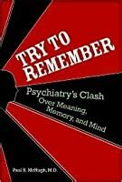 remember psychiatrys clash  meaning memory
