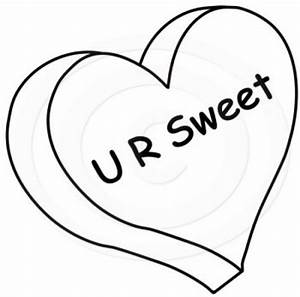Valentine's Day Candy Hearts Coloring Page   DesignCorner