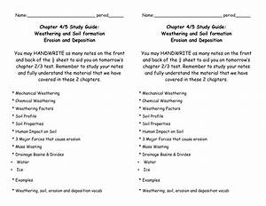 Name  Period       Chapter 4  5 Study Guide  Weathering And