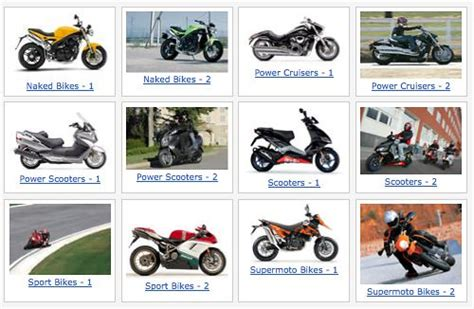 Descriptions Of Different Motorcycles Types
